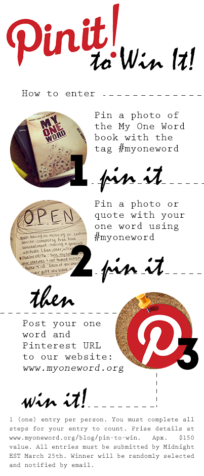 PinToWin My One Word March 2013